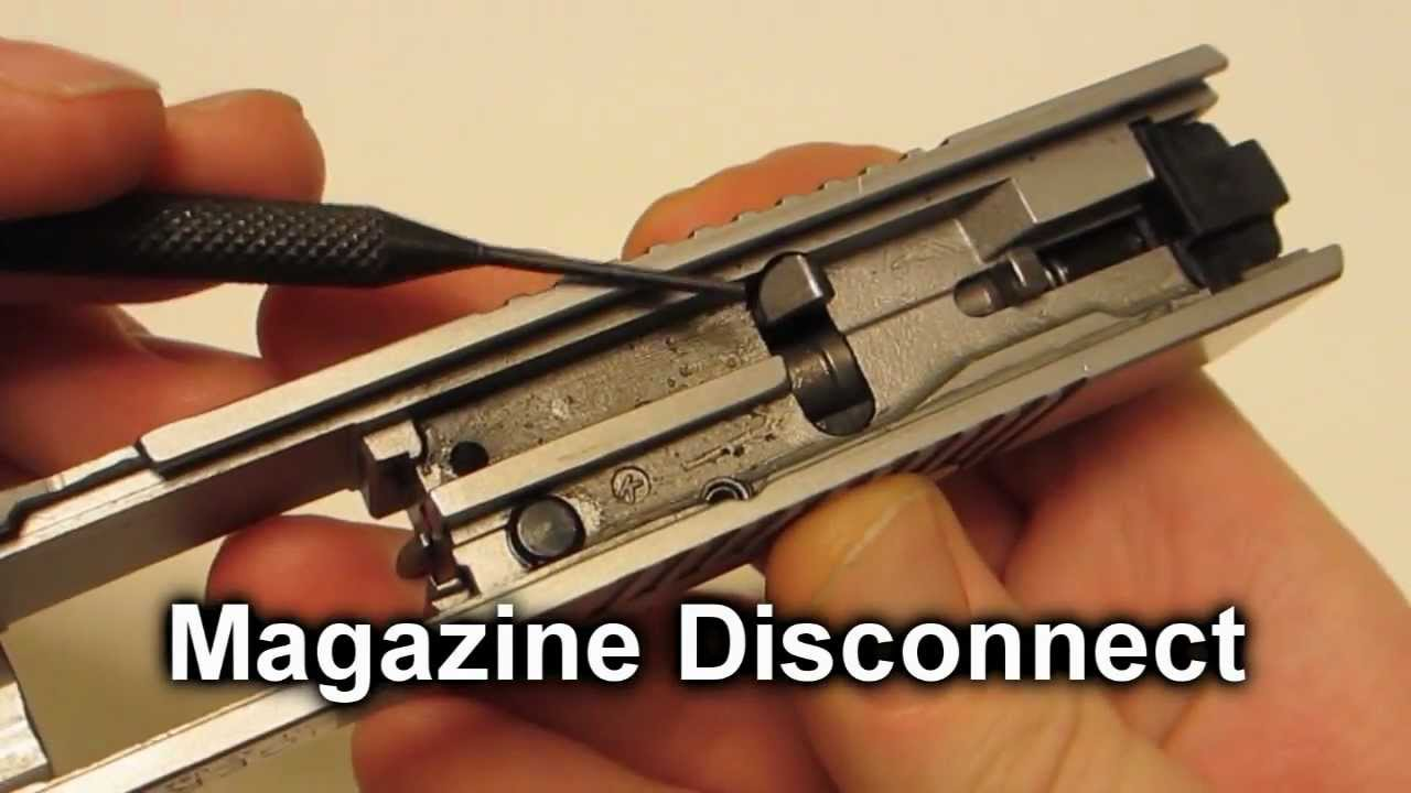 Ruger Sr9 Striker And Magazine Disconnect Removal
