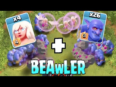 Clash Of Clans - BOWLER HEALER STRAT!! (Top player strategy!?!)