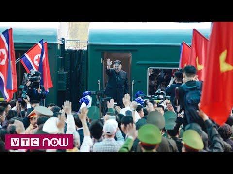 Chủ tịch Triều Tiên Kim Jong-un lên tàu hỏa rời Việt Nam