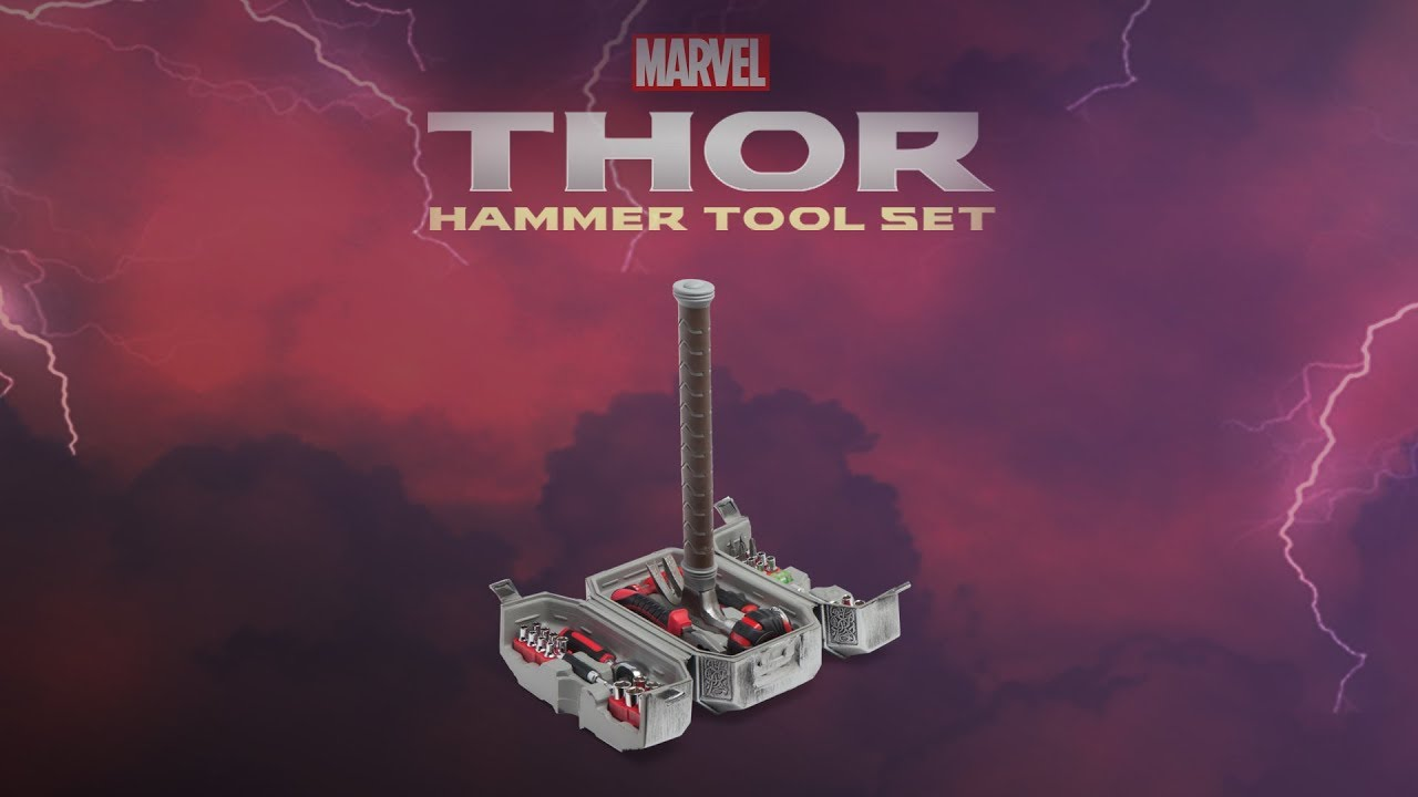 Marvel Thor Hammer Tool Set From Thinkgeek Youtube