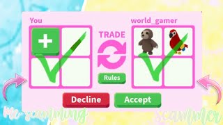 I scammed my biggest fan back !!||Adopt me//Roblox||
