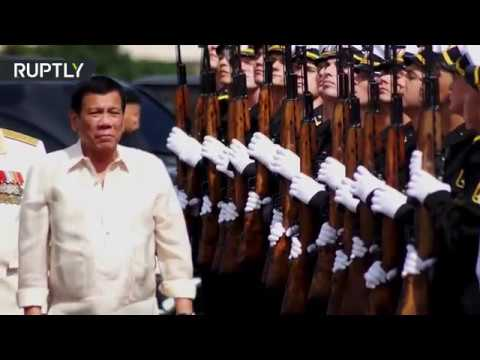 RAW: Duterte visits Russian warship in Manilla, Philippines