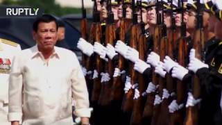RAW  Duterte visits Russian warship in Manilla, Philippines