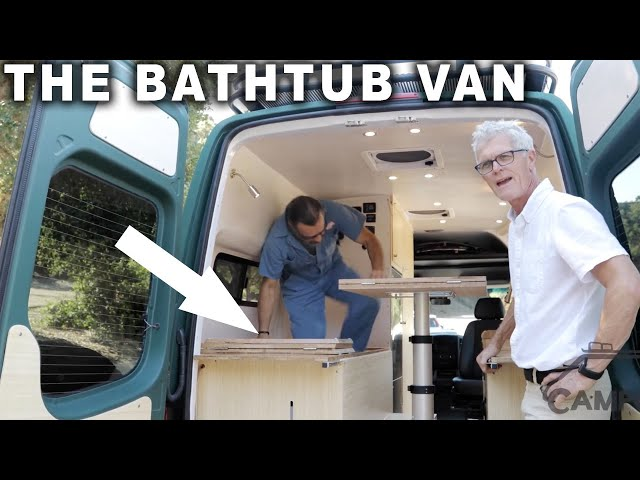 Tour of Custom 4x4 Sprinter with BATHTUB and more - By Campovans
