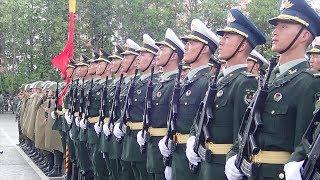 Подготовка китайских военнослужащих к параду в Минске