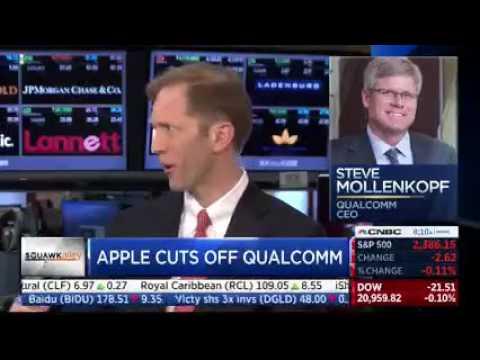 CNBC Panel Explains The Qualcomm vs. Apple Dispute
