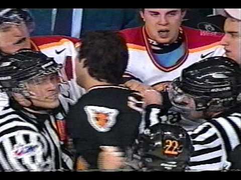 Acadie-Bathurst vs Cape Breton Line Brawl QMJHL Feb 19/02