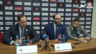 Пресс-конференция после матча 'Торпедо' - 'Динамо' (Минск) 26.11.2016