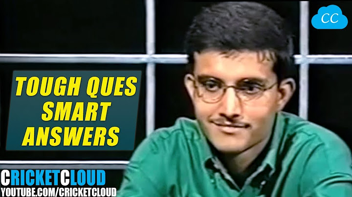 Sourav Ganguly Smartly Answering tough Questions | RARE OLD INTERVIEW !!