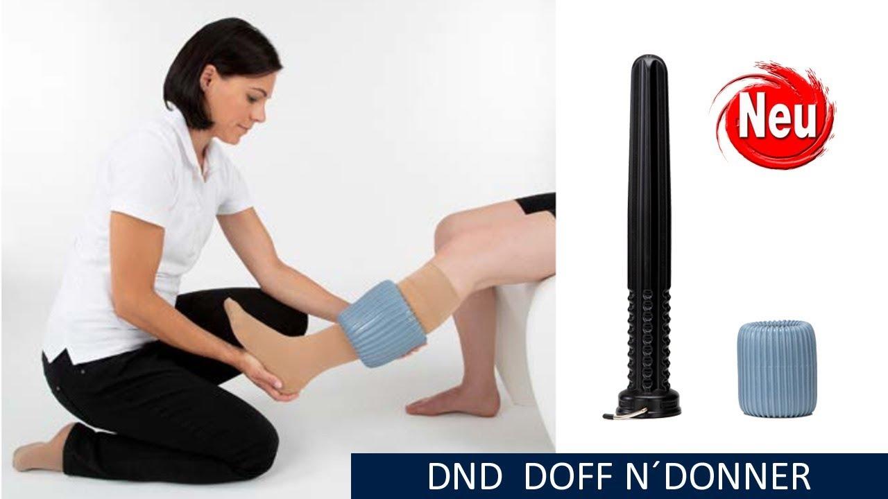 die neue doff n donner cone set an und ausziehhilfe fur medizin kompressionsstrumpfe selbst