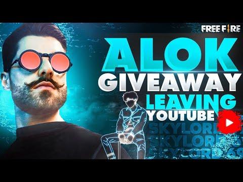 DJ ALOK LEAVING YOUTUBE || FREE FIRE || SKYLORD