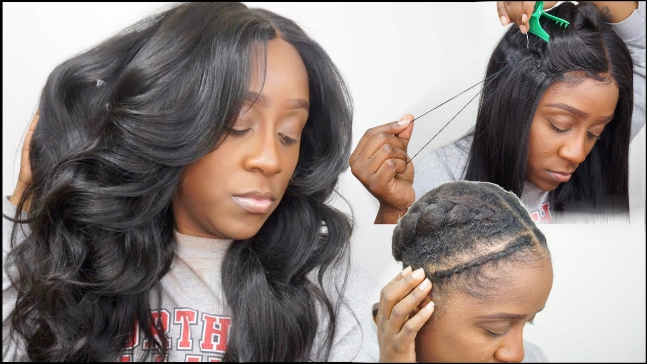 How To Sew Down A Lace Closure Wig Flat Braid Pattern