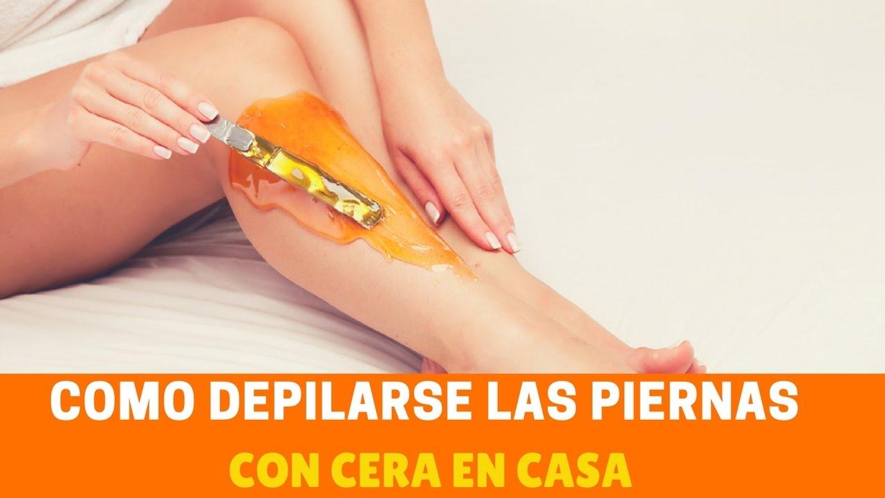 como depilarse las piernas con cera en casa - youtube