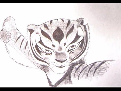 Come disegnare la tigre di kung fu panda youtube for Immagini tigre da colorare