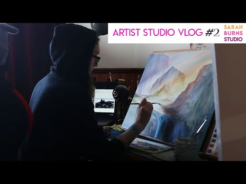 ARTIST VLOG & Updated Studio Tour (Scotland 2018) – Painting, Working and Art Chat!