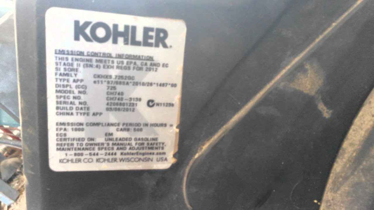 small resolution of look up model number of a kohler engine