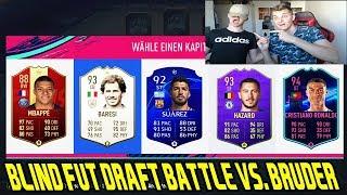 FIFA 19: Wer baut BLIND das besser FUT DRAFT im Battle vs. kleinen BRUDER! - Ultimate Team
