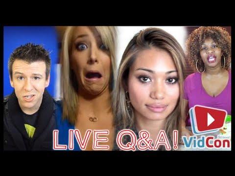 Q&A w/ JENNA MARBLES, PHILIP DEFRANCO, EXOTIC JESS  & GLOZELL GREEN - VidCon Adventures