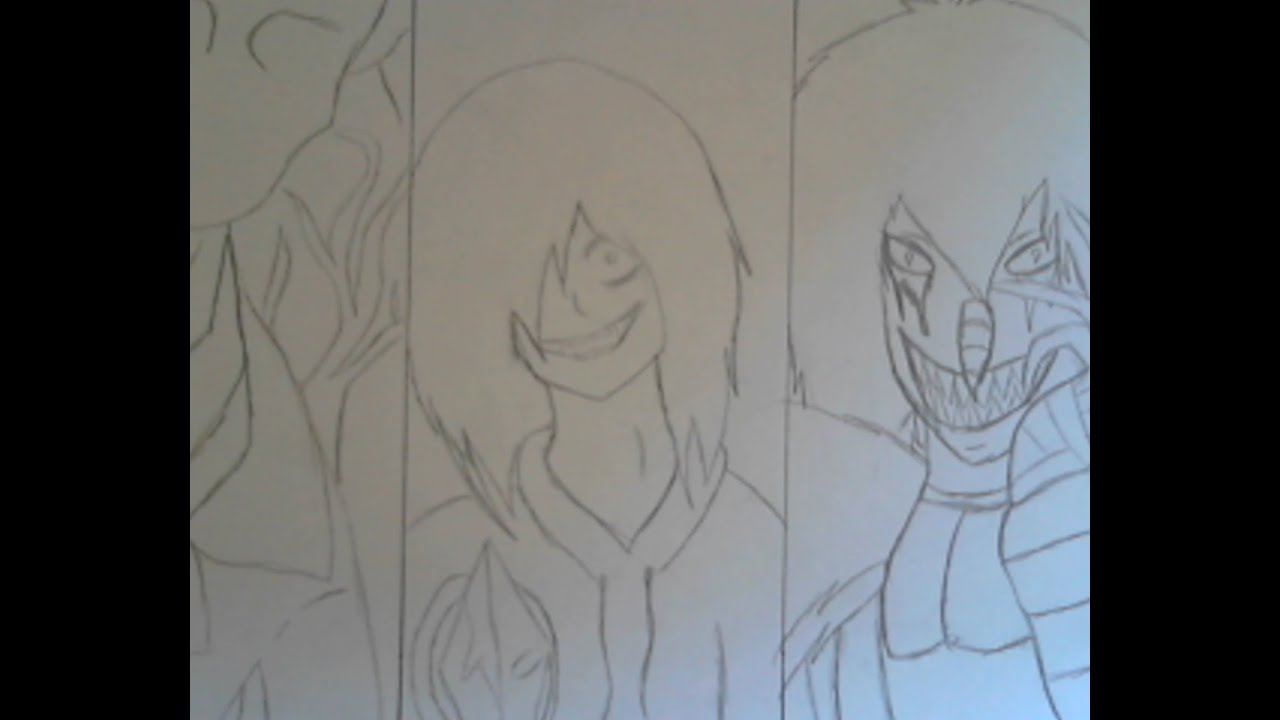 Jeff The Killer And Eyeless Jack Drawing