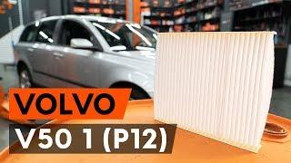 Kā nomainīt salona gaisa filtrs / salona filtrs VOLVO V50 1 (P12) [AUTODOC VIDEOPAMĀCĪBA]