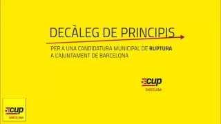 Per una candidatura municipal de ruptura a l'Ajuntament de Barcelona