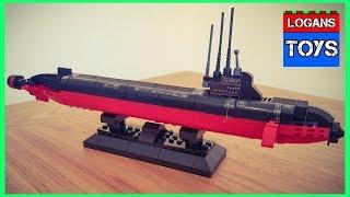 SLUBAN / LEGO COPY NUCLEAR SUBMARINE SPEED BUILD !!!