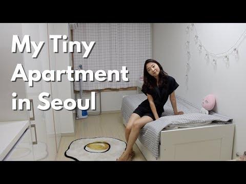 My Tiny Seoul Apartment (officetel) Tour | $500/month 200sqft