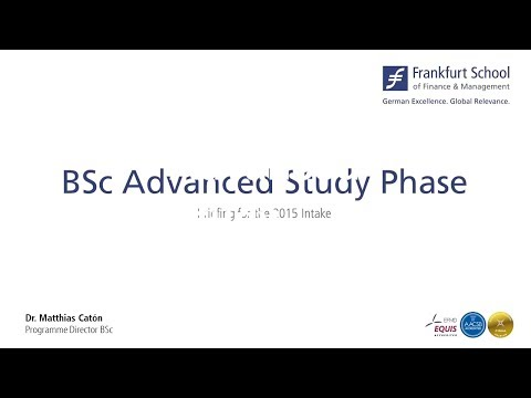Bachelor of Science Advanced Study Phase at Frankfurt School