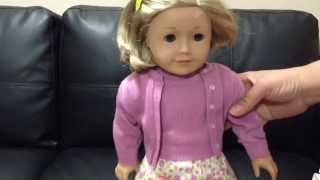 Opening American Girl doll Kit