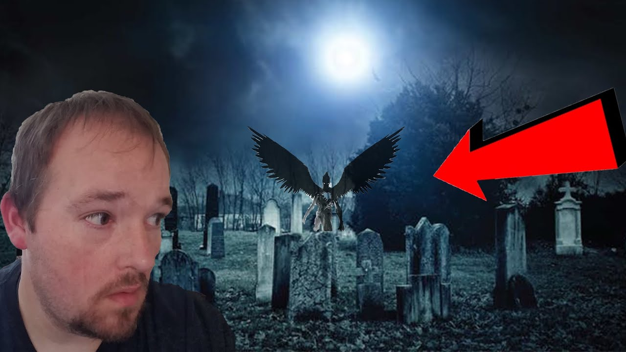 Overnight Challenge | Haunted Lost Creek Cemetery | Close Encounter With Winged Monster!