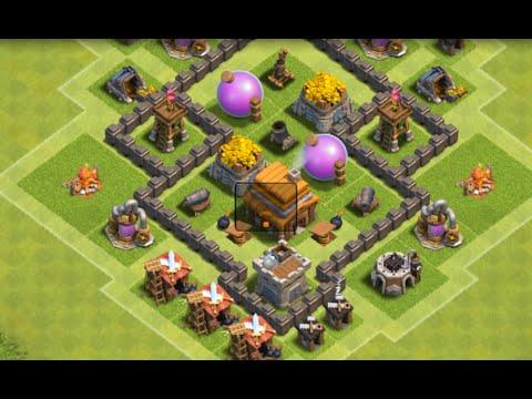 clash of clans layout cv 4 farm guerra push ep1 youtube - Layout Cv 4 Guerra