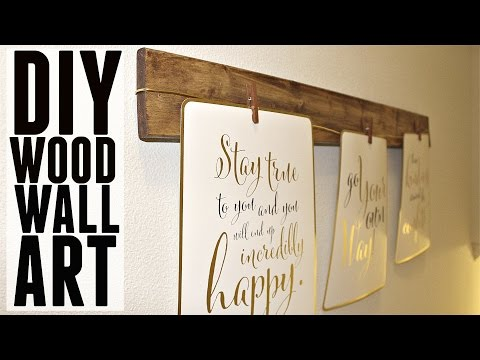 DIY | Quick + Easy Wood Wall Art