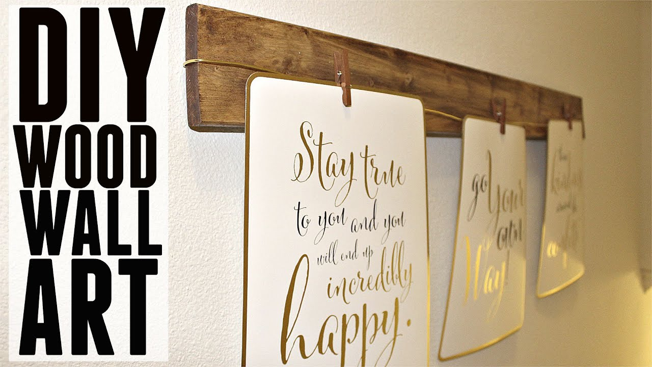 Wood Wall Art Diy diy | quick + easy wood wall art - youtube