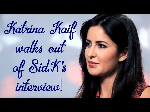 Katrina Kaif walks out of Siddharth Kannan's interview!!