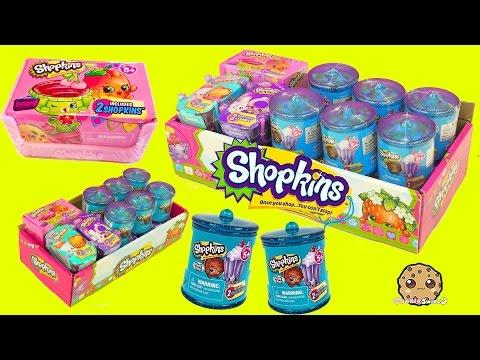 Surprise Blind Bags Box Of Shopkins Season 2, 3 , 4,  Fashion Spree + Candy Jars - Cookieswirlc