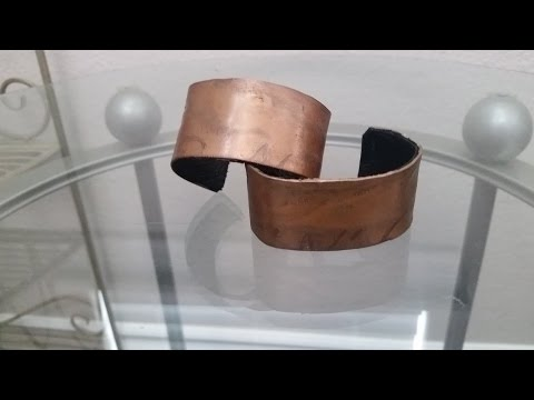 Making a DIY copper and leather bracelet