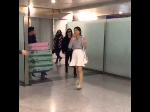 [MEIPAI] 150123 miss A at Chengdu Shuangliu International Airport