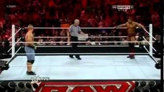 David Otunga Vs John Cena   WWE RAW 4 9 12