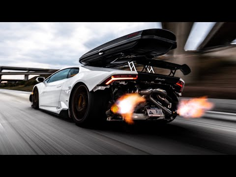 MOST EXTREME TWIN TURBO LAMBORGHINI EVER?  *INSANE FLYBYS SHOOTING FLAMES*