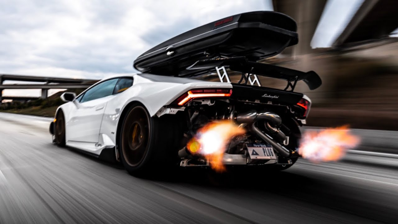Most Extreme Twin Turbo Lamborghini Ever Insane Flybys Shooting Flames