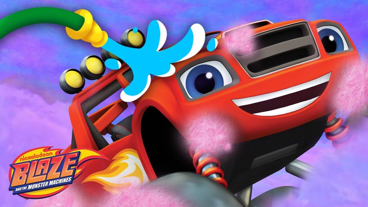 Blaze Car Wash Surprise #15 w/ Cotton Candy Blaze! | Blaze and the Monster Machines