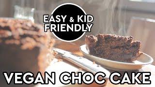 Vegan Chocolate Cake Recipe - Quick, Easy, Kid Friendly