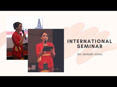 MC Bali Nirmala Trisna for International Seminar in Bali, Indonesia