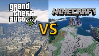 GTA 5 vs Minecraft [Gameplay][Graphics][SidebySide] PC