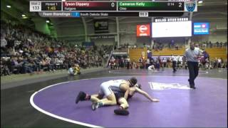 cameron kelly ohio vs tyson dippery rutgers midlands wrestling tournament