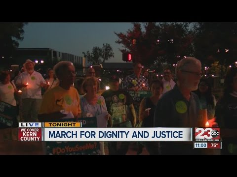 Group marches for dignity and justice