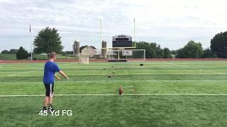 8th grade Daniel Mueller,  Pennsylvania kicker/punter- 45 yard FG, touchbacks in game