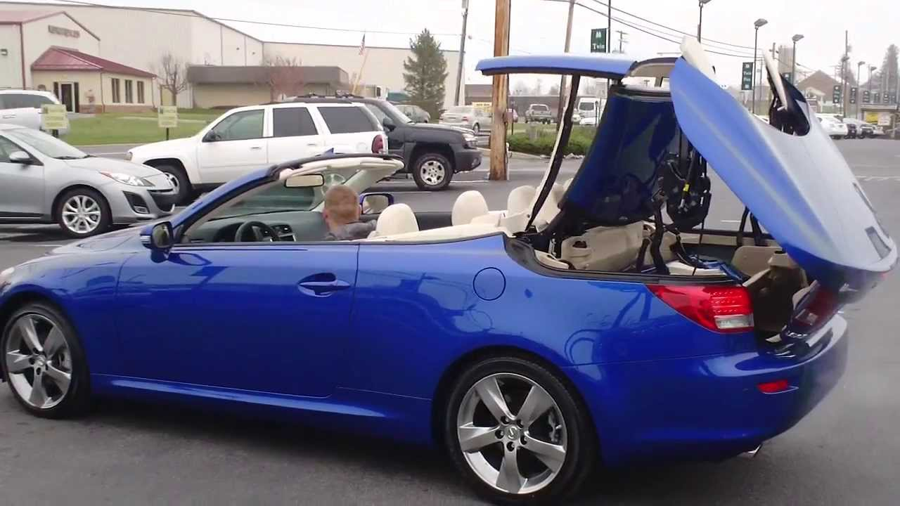 HOW TO OPERATE THE CONVERTIBLE TOP ON YOUR LEXUS IS