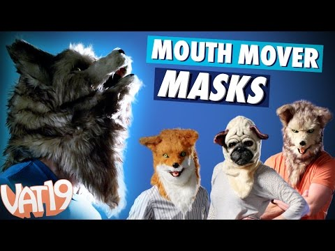 Animal Masks That Move When You Talk