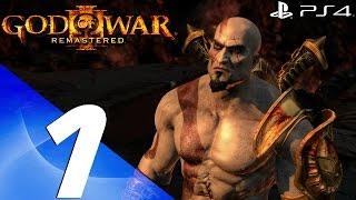 God of War 3 Remastered - 60fps Walkthrough Part 1 - Prologue & Poseidon Boss
